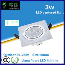 3W LED Grille lamp AC85-265V single head ceiling lamp energy saving LED downlight spotlight