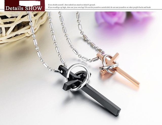 Free Shopping 2017 Trendy Cross Necklace Stylish Titanium Steel