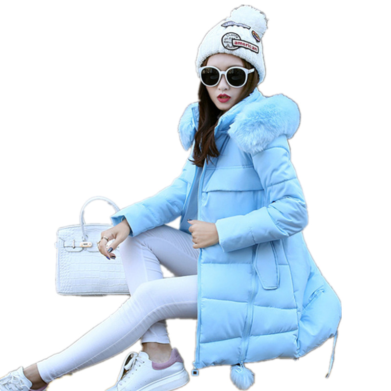 Womens Winter Jackets Fake Fur A-Line Coats Thick Warm Hooded Cotton Padded Parkas For Women Jacket Female Manteau Femme MZ1541 casual 2016 winter jacket for boys warm jackets coats outerwears thick hooded down cotton jackets for children boy winter parkas