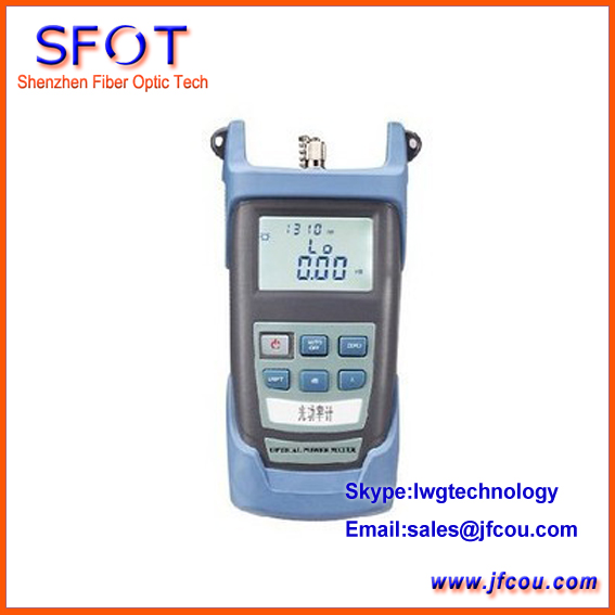 Portable Optical Power Meter For Optic Fiber Networks LCD Display PM 3200
