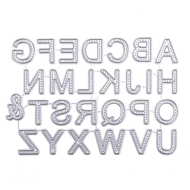 Alphabet Letters Metal Cutting Dies For Scrapbooking DIY Decorative Embossing Folder Stencil Cards Photo Album Template G10