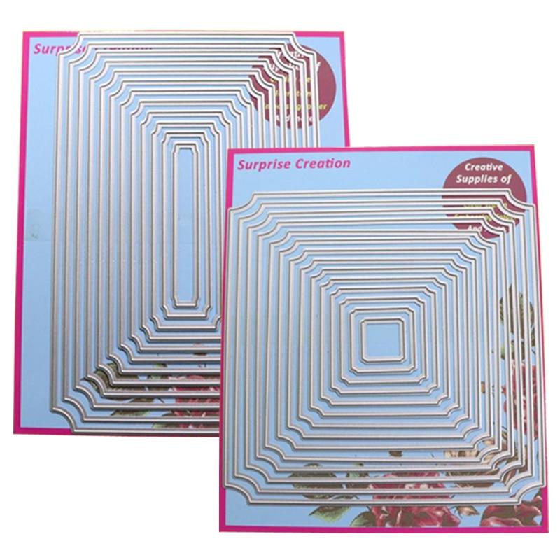 2-Set Cutting dies Curve Corner Rectangle & Square Cardmaking & Scrapbooking DIY Craft stencil2-Set Cutting dies Curve Corner Rectangle & Square Cardmaking & Scrapbooking DIY Craft stencil