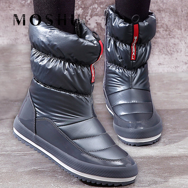 Women Winter Boots Platform Casual Ankle Down Snow Boots Female Zip Waterproof Warm Cotton Plush Shoes For Woman Botas Mujer