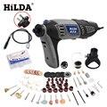 HILDA 180 W eléctrico Mini taladro de velocidad Variable herramienta rotativa Dremel Mini amoladora eléctrica Dremel accesorios de la máquina de perforación