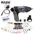 HILDA 180W Electric Mini Drill Variable Speed Rotary Tool For Dremel Mini Electric Grinder Dremel Accessories drill machine