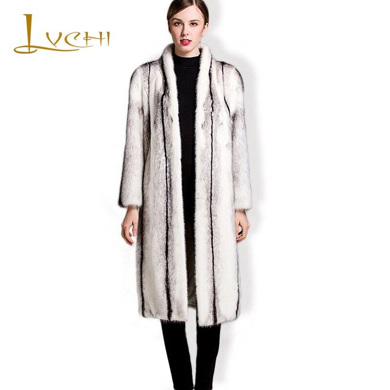 LVCHI mantel bulu nyata untuk wanita mantel bulu alami nyata Rusia - Pakaian Wanita - Foto 1