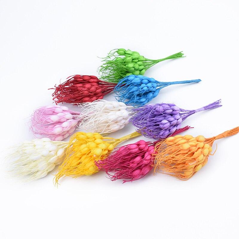 10pcs Artificial Plants DIY Christmas Garlands Cheap Silk Flowers For Scrapbooking Fake Wheat Ears Diy Pompon Wedding Home Decor