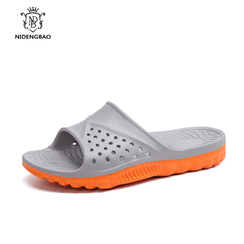 Hot New 2018 Summer EVA Slippers Unisex Sandals Men Sandals Fashion Hollow Out Breathable Beach Slippers Flip Flops for Male hollow out sandals for men natural leather european fashion style male breathable hole sandals casual cut out mans cool shoes
