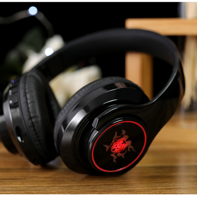 Earphone bluetooth 4.1 wireless HIFI  Seven color LED over ear headset waterproof with microphone headphones auricolari headset