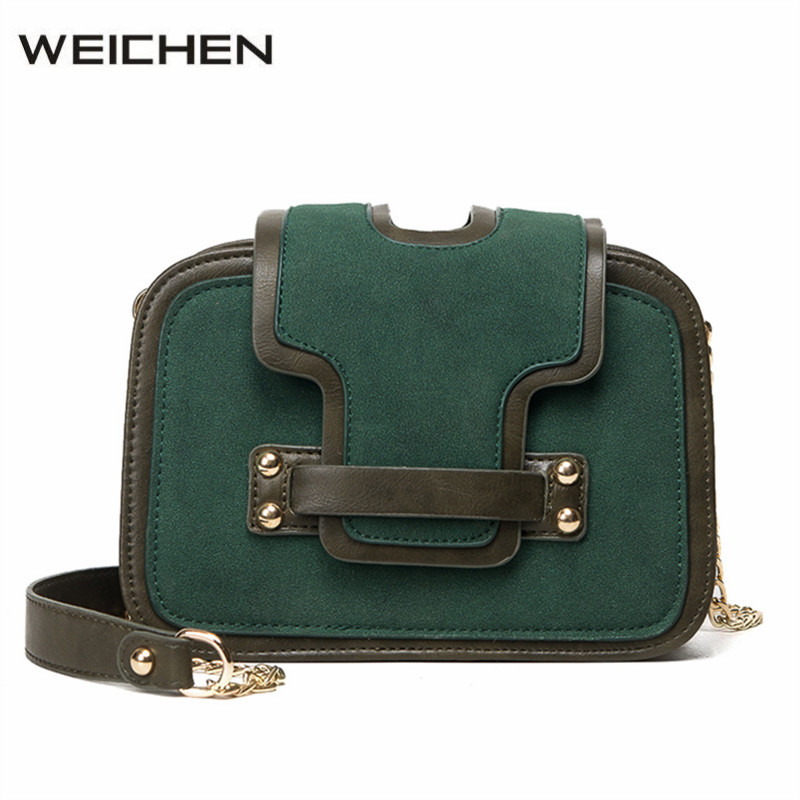 Classic Vintage Green Women Messenger Bag Small Trunk Chains Clutch Bags Crossbody Handbags Fashion Shoulder Bags Bolsos Mujer  fashion vintage women s handbags quality pu leather crossbody bags for teenager girls chains shoulder bag desinger clutch bags