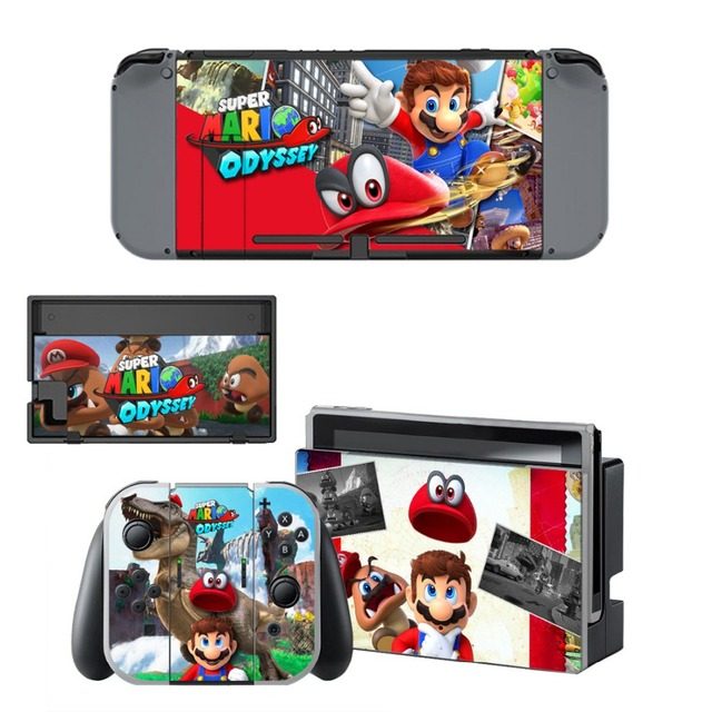 Gift Popular Game Super Mari o Skin Sticker For Nintend Switch Console Controller Vinyl Skin Cover Accessories NS