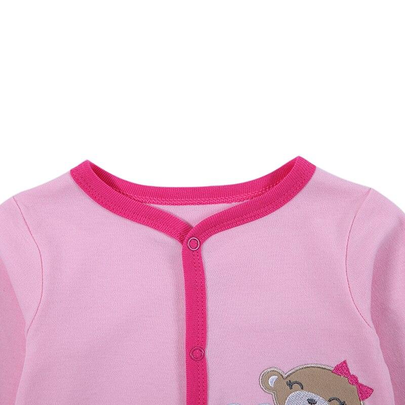 100% pamut bébi test 3db / lot őszi újszülött pamut test baba - Bébi ruházat - Fénykép 4