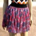 Мода мультфильм печать женщины короткая юбка павлин saia femininas свободного покроя юбка панк горячая распродажа SK-014