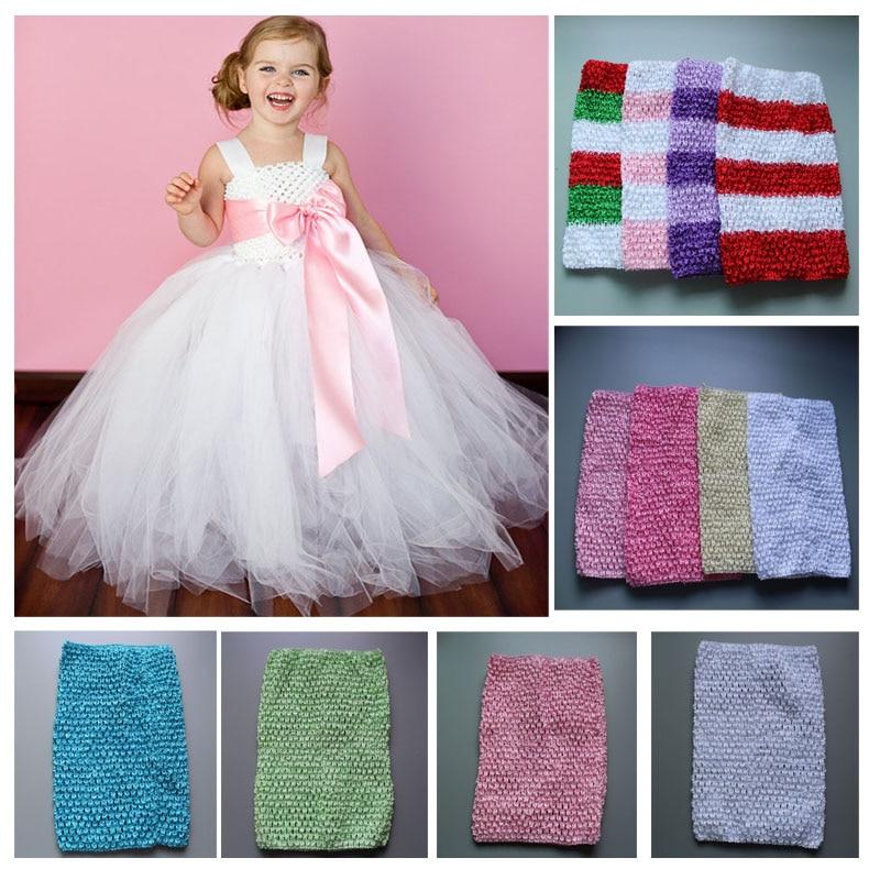 Wholesale 9 Inch Tutu Crochet Tube Top Kids Girls Stretch Colored