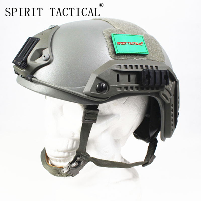 SPIRIT TACTICAL Aramid NIJ level IIIA FAST High Cut Ballistic Helmet Bulletproof Tactical Helmet Masks Seals
