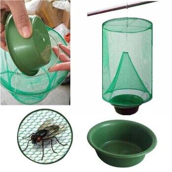 OGFFHH здоровья 1 шт. вредителей Управление многоразовые висит Fly Catcher убийца мухи мухоловка Zapper клетка Чистая ловушка сад дом двор поставки