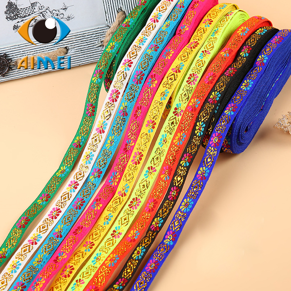 Factory direct sale spot 1 cm lace national wind small lantern The ancient costume embroidery sequins computer jacquard ribbon