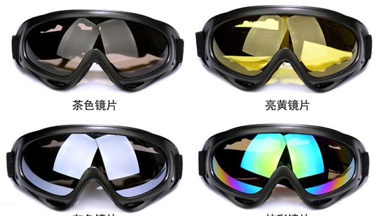 Prix pour Coupe-vent lunettes X400 lunettes Œillères Neige Lunettes preuve De Sable Lunettes