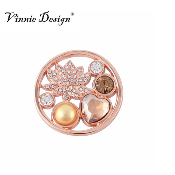 Us 305 25 Offaliexpresscom Buy Vinnie Design Deluxe Coin With Lotus Flower For 35mm Pendant My Coin Necklace From Reliable My Coin Suppliers On