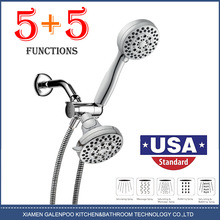 Bathroom American - style concealed plating surface three-way diverter with socket top spray shower set