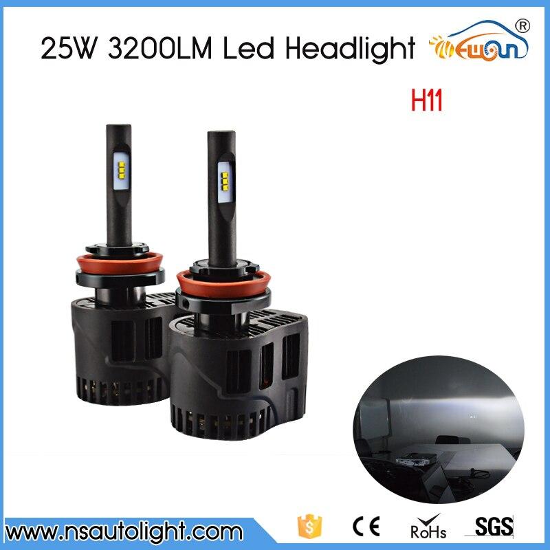 ФОТО 360 Degree Lightting 2x H11 3200LM 50W/Set Top Quality LED 12-24V Car Auto 6000K Xenon White Fog Headlight
