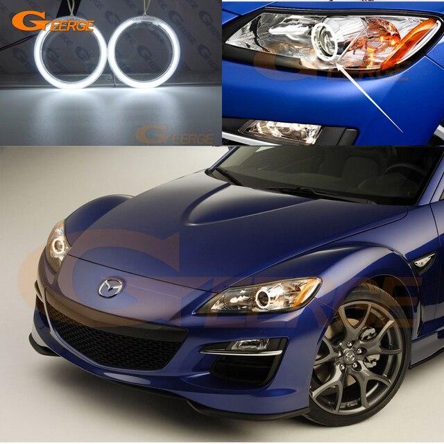 Para Mazda RX 8 R3 2009 2010 2011 2012 Excelente Angel Eyes Ultra  Iluminação Brilhante