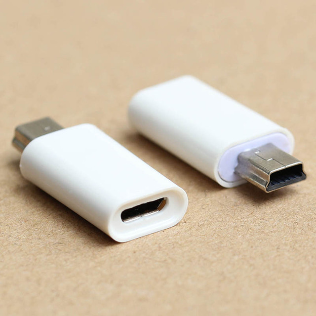 Micro Usb Female To Mini Usb Male Adapter Cable Converter Charger