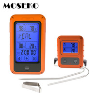 MOSEKO Touchscreen Digital Wireless Meat Thermometer Dual Probe For Oven Water Food BBQ Grill Cooking Kitchen Alarm Thermometer
