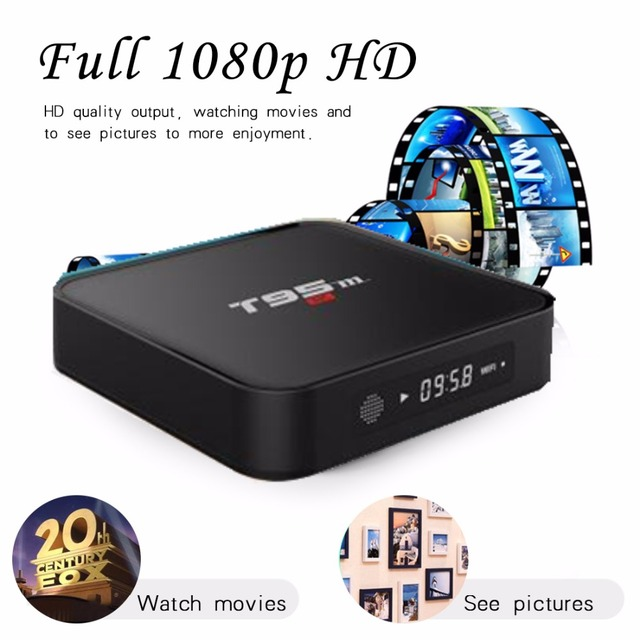 US $40 55 5% OFF|t95m tv box android set top box amlgoic s905x with YouTube  netflix twitter 4k player-in Set-top Boxes from Consumer Electronics on