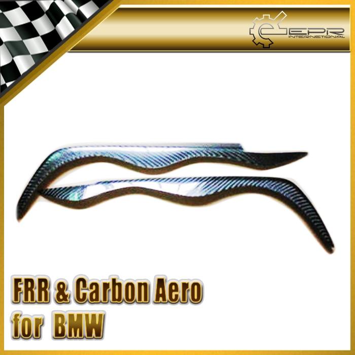 ФОТО New 2Pcs Eyebrow Eyelid FOR BMW E46 2 Door 98-02 Carbon Fiber Car Accessories Car Styling