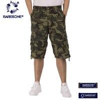 Rarebone 2018 Shorts For Men Shorts Cotton Joggers Multi Pocket Summer Casual Camouflage Shorts Military Men