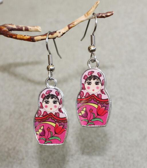 New Vintage Ancient Silver Matryoshka Russian Doll Charms Dangle Earrings For Women Gift Jewelry Making 20 Pair In Drop From Accessories