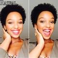 2017 Razeal Hair Black Synthetic Wigs for Black Women Black Afro Short Kinky Curly Wigs African American Women Fashion