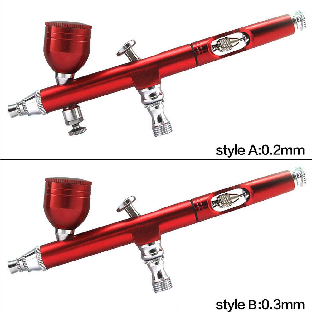7cc 0.2 Mm/0.3 Nozel Airbrush dengan 11 Buah Set Pembersih Spray Gun Aksesoris Dekorasi Kue Sikat untuk Manikur air Brush