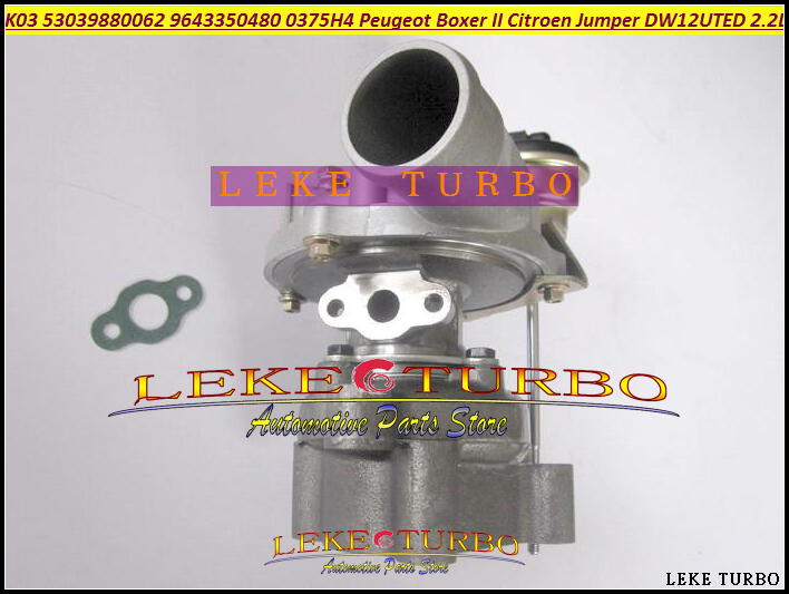 K03 53039880062 53039700062 9643350480 Turbo Turbocharger For Peugeot Commercial Boxer II For Citroen Jumper 01-10 DW12UTED 2.2L  цены