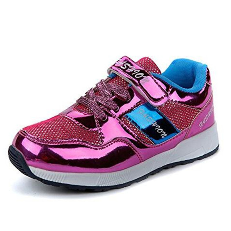 Aliexpress.com   Buy JABASIC Sports Shoes For Boys Sneakers 2018 New Brand  Outdoor Glitter Sneaker Breathable Kids Running Shoe Gold Shoe School Shoe  from ... d53be23f95df