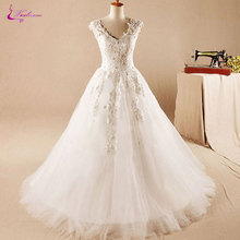 Waulizane Floor-Length Wedding Dresses Sleeveless Ball Gown