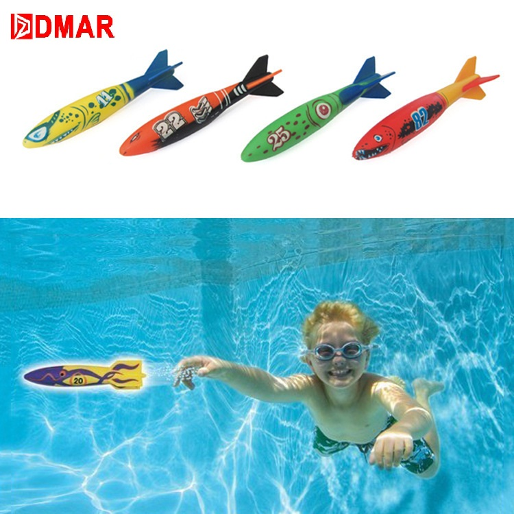 Dmar Diving Torpedo Throwing Children Pool Toys Swimming Water Toys For Kids Beach Summer Sports