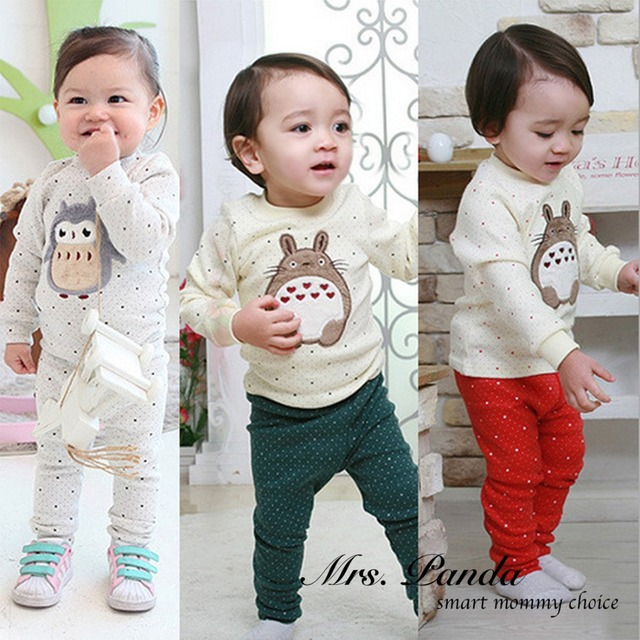 Retail 2017 Spring style Infant clothes Clothing sets My Neighbor Totoro 2pcs(Full Sleeve + Pants) Baby clothes Free Shipping