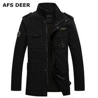Men Military Jacket And Coats 2016 Autumn Outdoor Brand Fashion Clothing Cotton Veste Homme Jaquetas Masculina