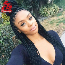 Thick and Soft Brazilian Hair 180 Density synthetic Lace front Wigs braided hair with Baby Hair for Black Woman fast shipping