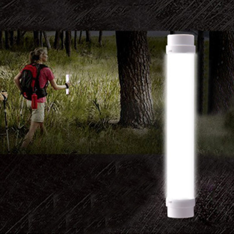LED Bright Portable Camping Lantern 200 Lumens Emergency Flashlight USB Charging Warning Signal Light ALI88