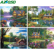 AZQSD Diamond Painting New 2019 Embroidery Scenery Needlework Mosaic Full Display Rhinestones Pictures Gift