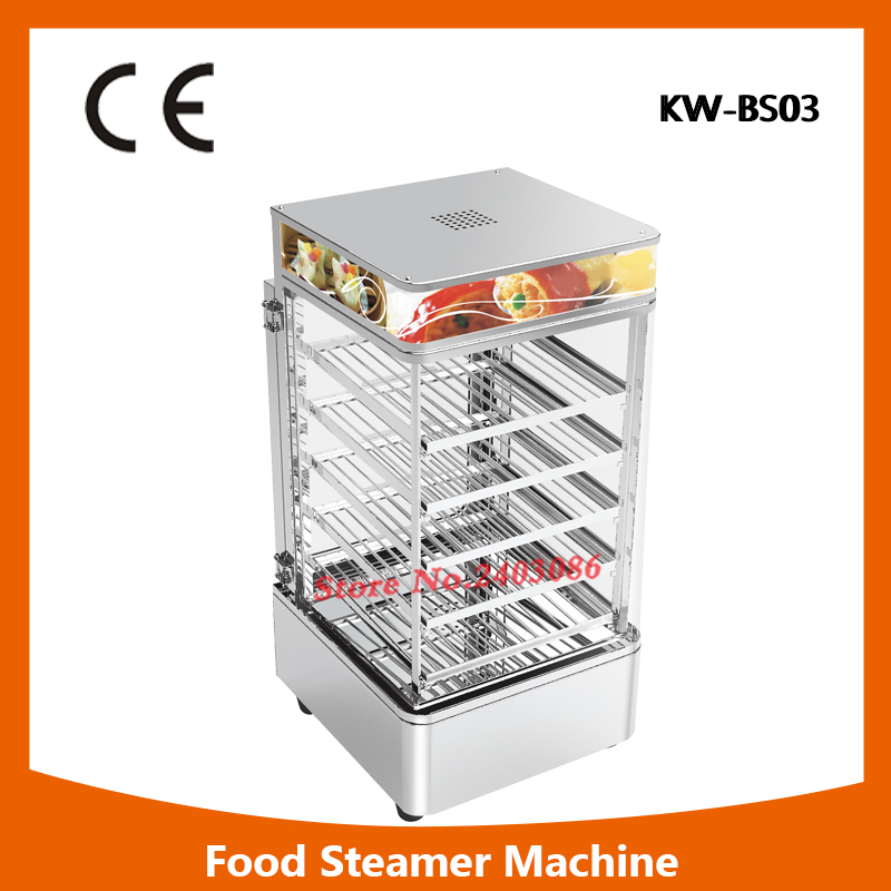 KW-BS01 portable 5 tier food warmer machine bun steamer cooker stainless steel food heater for sales fast food leisure fast food equipment stainless steel gas fryer 3l spanish churro maker machine