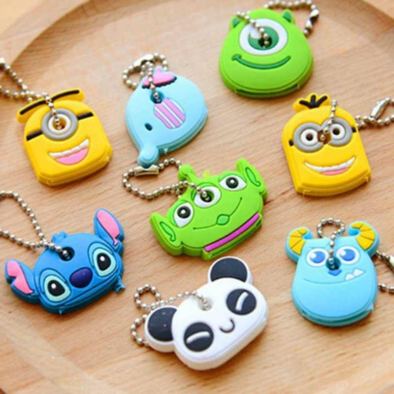 Creative Animal Monster Little Yellow Key Chain Cartoon Accessories Silicone Key Case Soft Portable Car Key Bag Gift