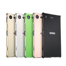 For Sony Xperia XZ1 Case Aluminum Metal Frame+Carbon Fiber Hard Back Cover Case for Sony Xperia XZ1 G8341 Shockproof Phone Shell все цены