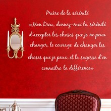 Free shipping wall stickers muraux Dieu - GOD , LA PRIERE CHRETIENNE vinyl wall decal stickers in french langue,fr2007(China)