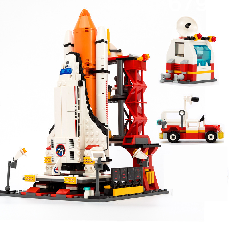 цены The Space Shuttle City Spaceport Space Shuttle Blocks Bricks Building Block Sets Educational Classic Toys For Children E30