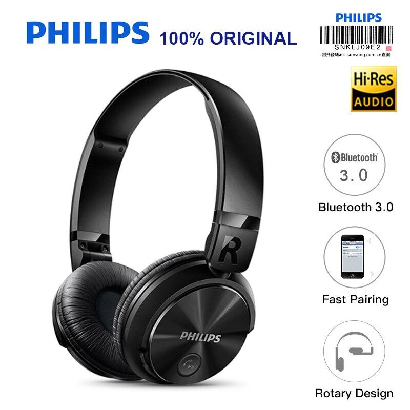 Philips Sans Fil Écouteur SHB3060 avec Micro USB Batterie Au Lithium 11 Heures Temps de Musique pour Iphone X Iphone 8 vérification Officielle