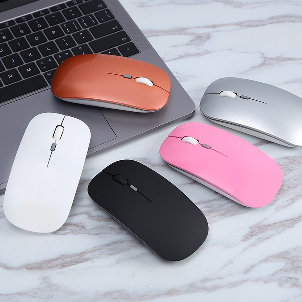 New 5 Color 2.4GHz Rechargeable Wireless Mouse Ultra-thin Mouse Notebook Mouse USB Mice For PC
